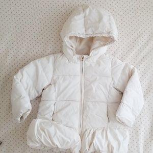 Gap toddler girl's white cream winter jacket 2t